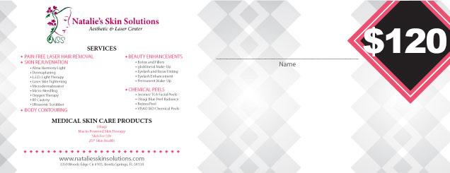$120 Natalies Skin Solutions Gift Certificate
